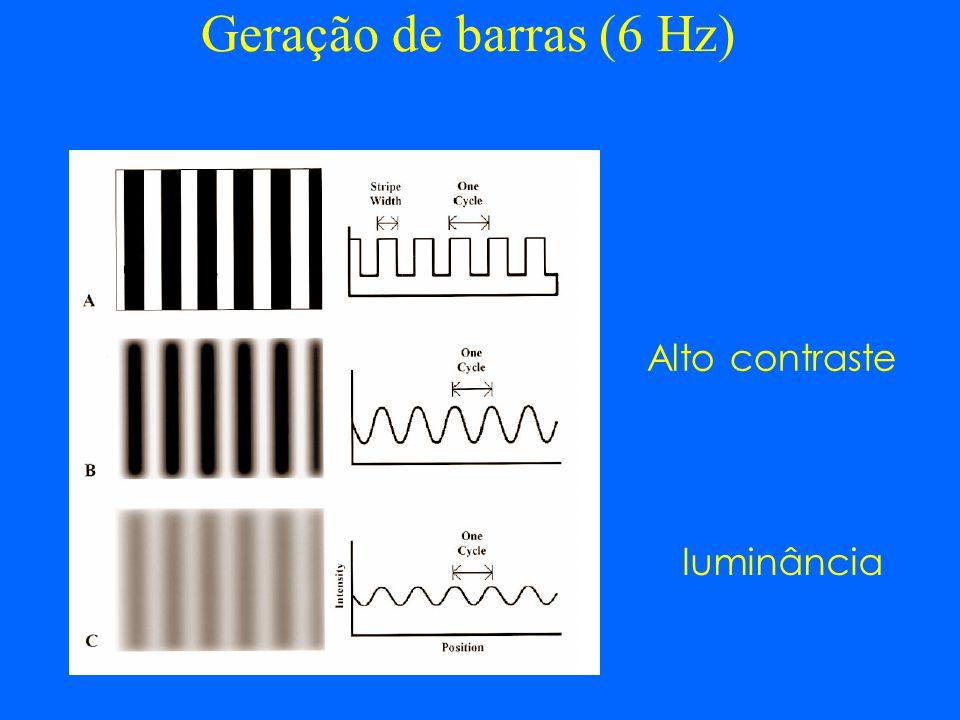 Geração de barras (6 Hz) Alto contraste luminância