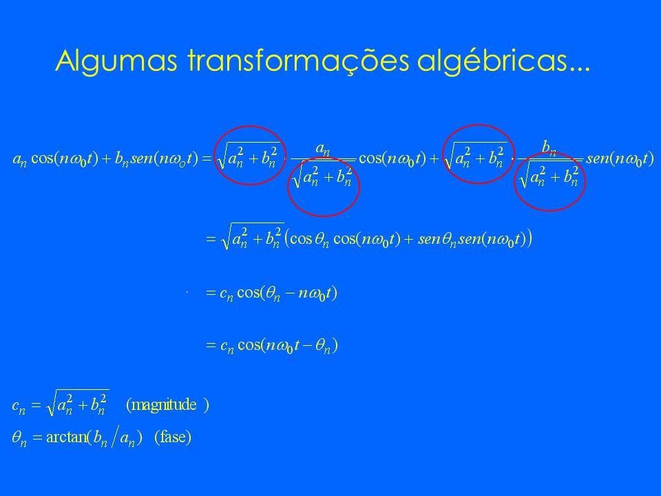 Algumas transformações algébricas...