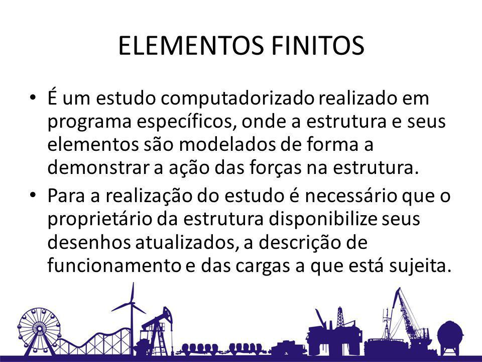 ELEMENTOS FINITOS Imagem de estrutura modelada em elementos finitos: