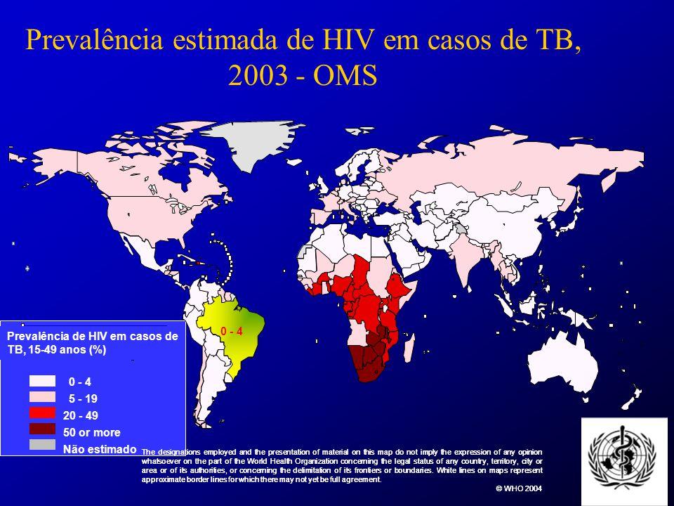 Tuberculose no Brasil População de 180 000 000 hab 80% dos casos de TB diagnosticados por ano estão em 22 países.