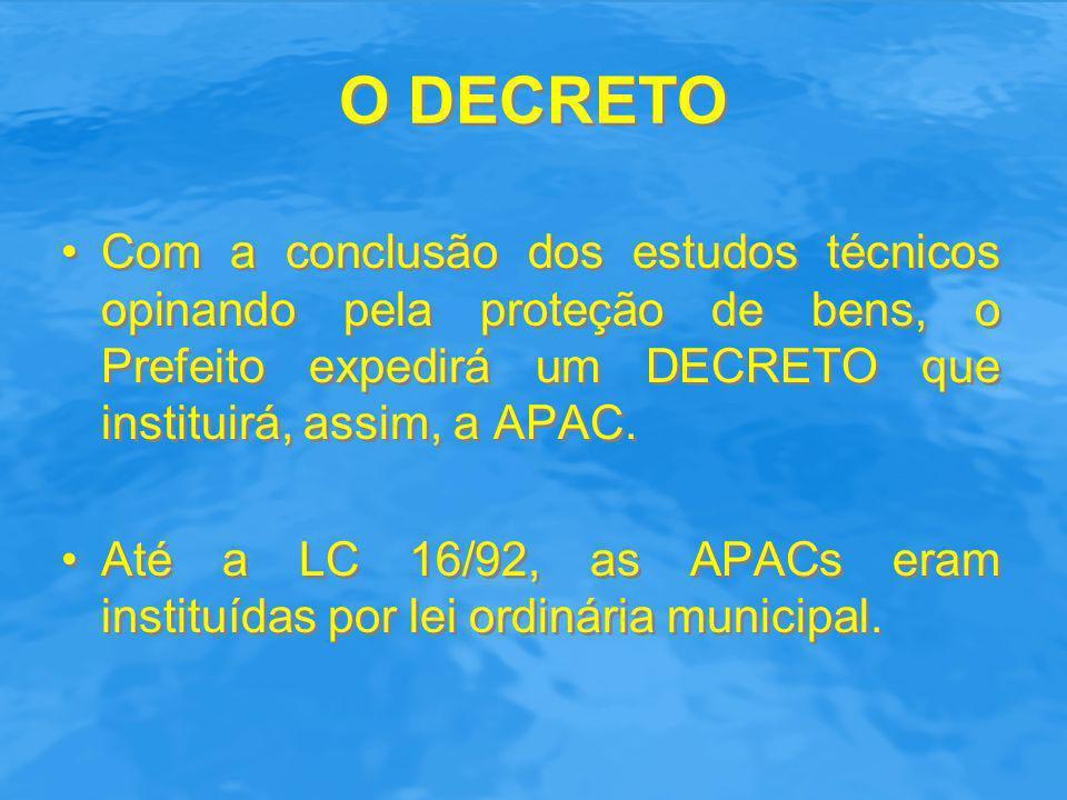 O DECRETO Pode a APAC ser criada por DECRETO.O art.
