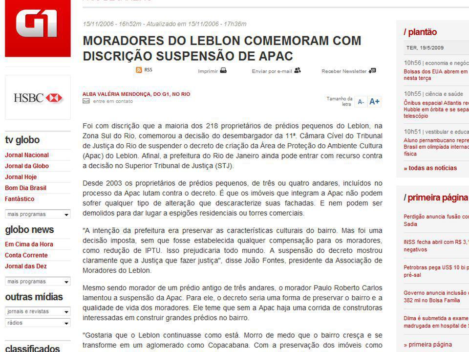 APAC ≠ PAC ÁREA DE PRESERVAÇÃO DO AMBIENTE CULTURAL (MUNICÍPIO DO RIO) PLANO DE ACELERAÇÃO DO CRESCIMENTO (GOVERNO FEDERAL)