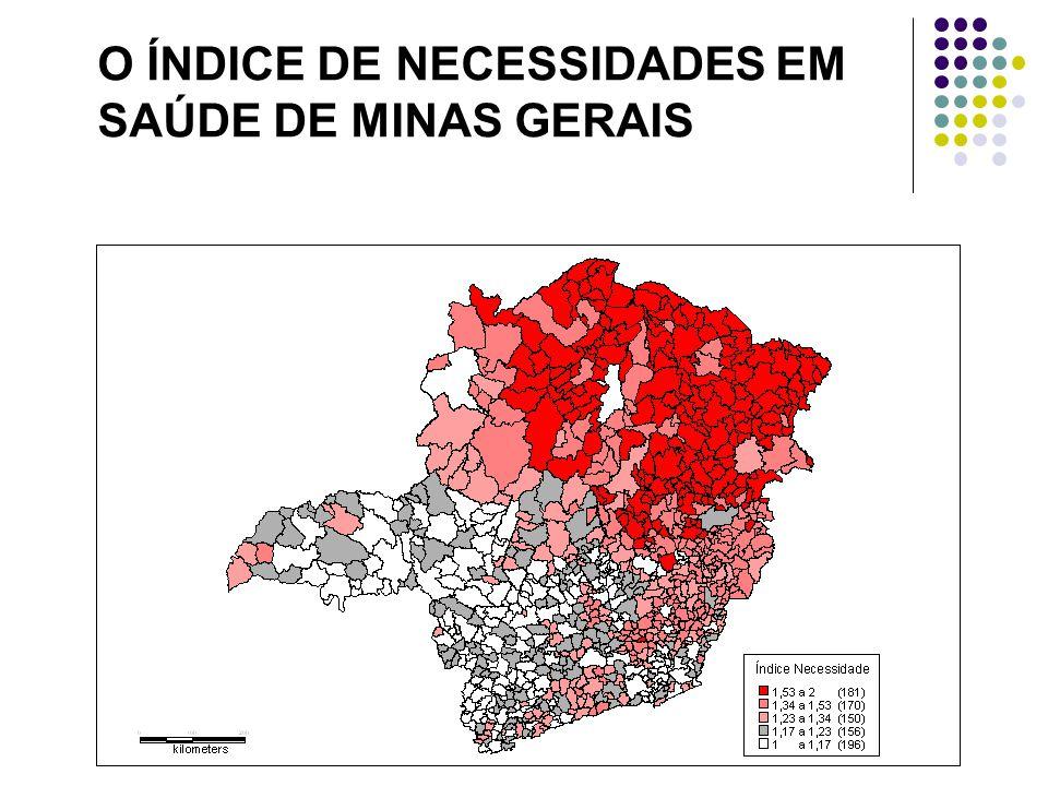 O ÍNDICE DE NECESSIDADES EM SAÚDE DE MINAS GERAIS