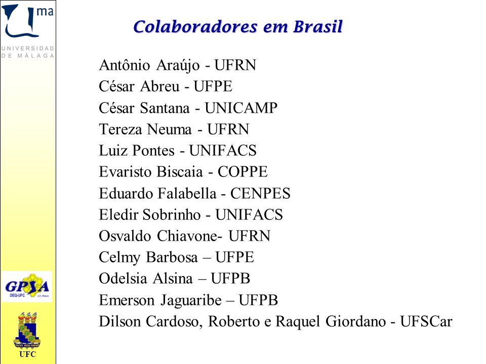 UFC Colaboradores em Brasil Antônio Araújo - UFRN César Abreu - UFPE César Santana - UNICAMP Tereza Neuma - UFRN Luiz Pontes - UNIFACS Evaristo Biscai