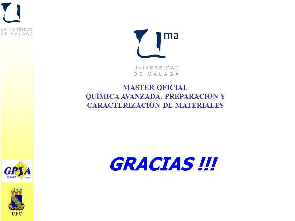 UFC GRACIAS !!! MASTER OFICIAL QUÍMICA AVANZADA. PREPARACIÓN Y CARACTERIZACIÓN DE MATERIALES