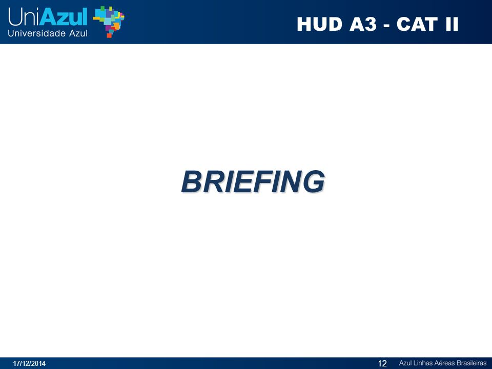 BRIEFING 17/12/2014 12 HUD A3 - CAT II