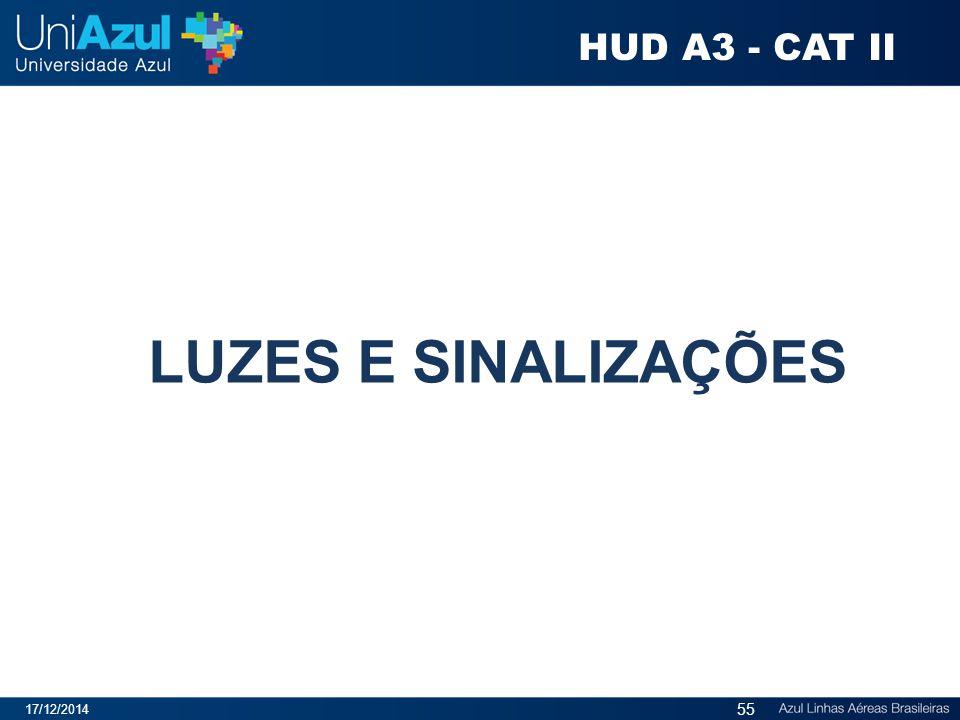 LUZES E SINALIZAÇÕES 17/12/2014 55 HUD A3 - CAT II