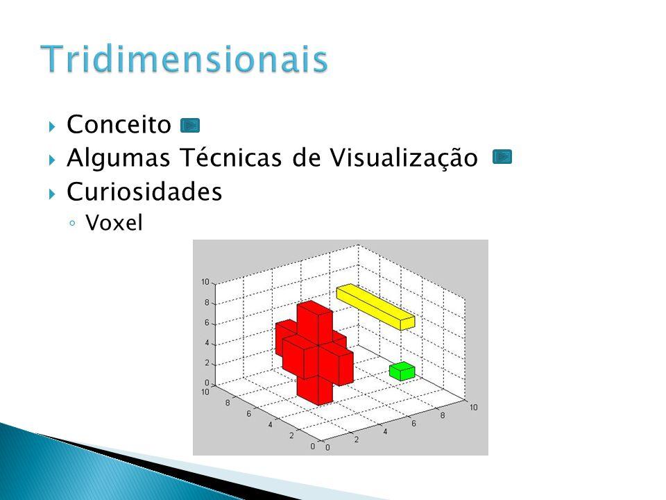  Conceito  Algumas Técnicas de Visualização  Curiosidades ◦ Base de Dados Relacionais ◦ É um conceito abstrato que define maneiras de armazenar, manipular e recuperar dados estruturados unicamente na forma de tabelas.