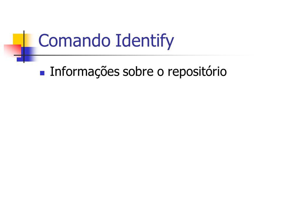 Comando Identify Informações sobre o repositório