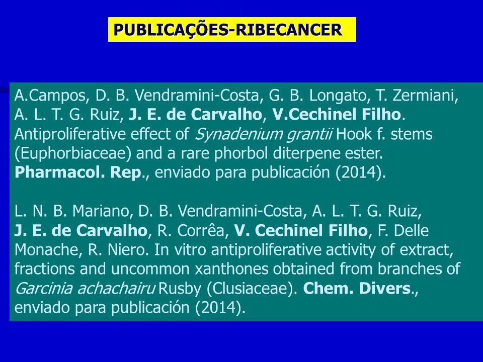 PUBLICAÇÕES-RIBECANCER A.Campos, D. B. Vendramini-Costa, G.