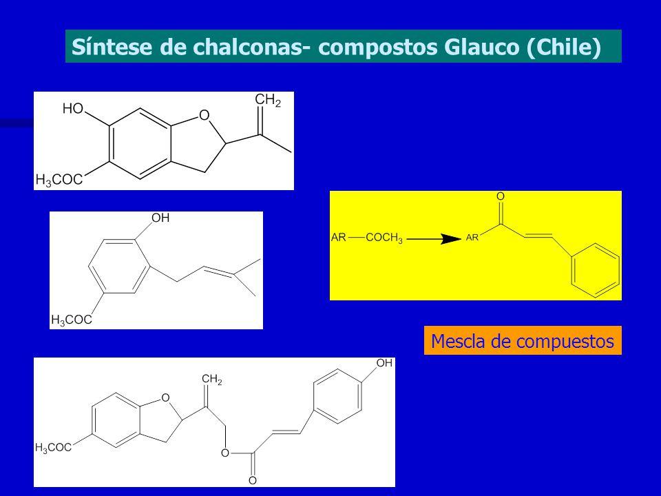 Síntese de chalconas- compostos Glauco (Chile) Mescla de compuestos