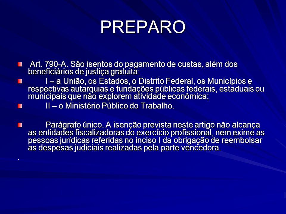 PREPARO Art.790-A.