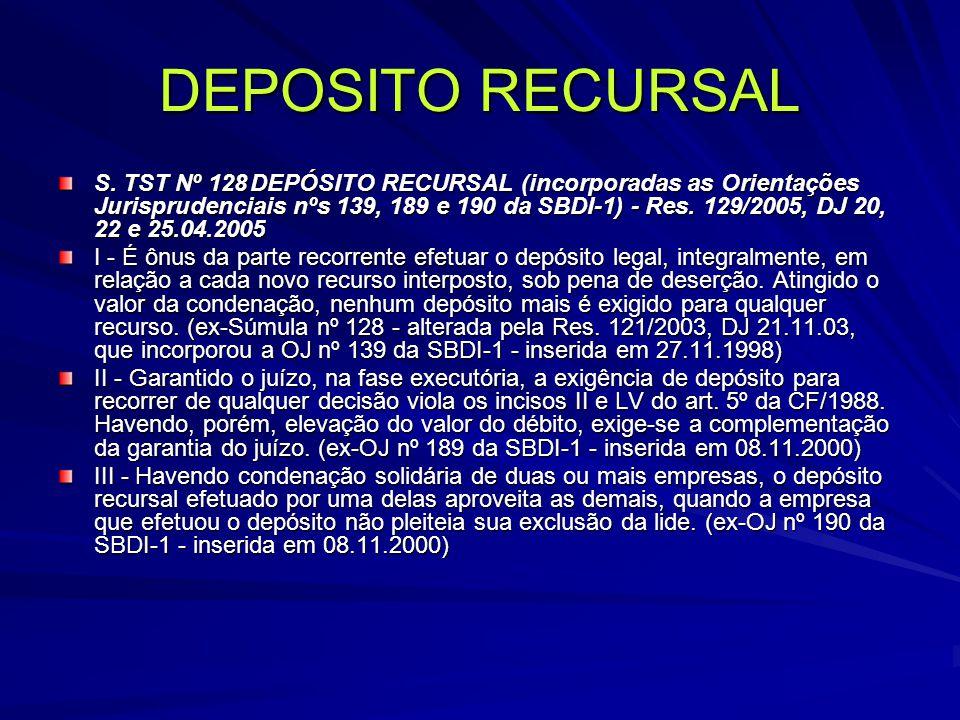 DEPOSITO RECURSAL S.