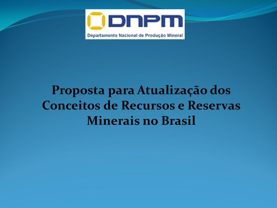 Proposta para Atualização dos Conceitos de Recursos e Reservas Minerais no Brasil