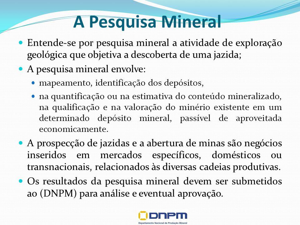 Projeto Conceitual CLASSIFICAÇÃO DE RECURSOS E RESERVAS MINERAIS RECURSO MEDIDO RECURSO INDICADO RECURSO INFERIDO Confiabilidade Geológica Crescente RELATÓRIO FINAL DE PESQUISA Exeqüibilidade Técnico-Econômica Preliminar (Indicada) RESERVA PROVADA PLANO DE APROVEITAMENTO ECONÕMICO Exeqüibilidade Técnico-Econômica Comprovada (Demonstrada) RESERVA PROVÁVEL Projeto Básico Confiabilidade Crescente da Exeqüibilidade Técnico-econômica RESERVA BASE Modelo Proposto