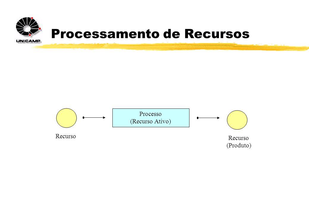 Processamento de Recursos Processo (Recurso Ativo) Recurso (Produto)