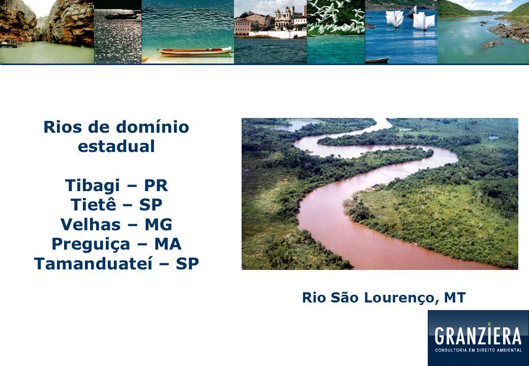 Águas subterrâneas: domínio estadual Aquífero Guarani: compartilhado entre 8 Estados brasileiros e 4 países