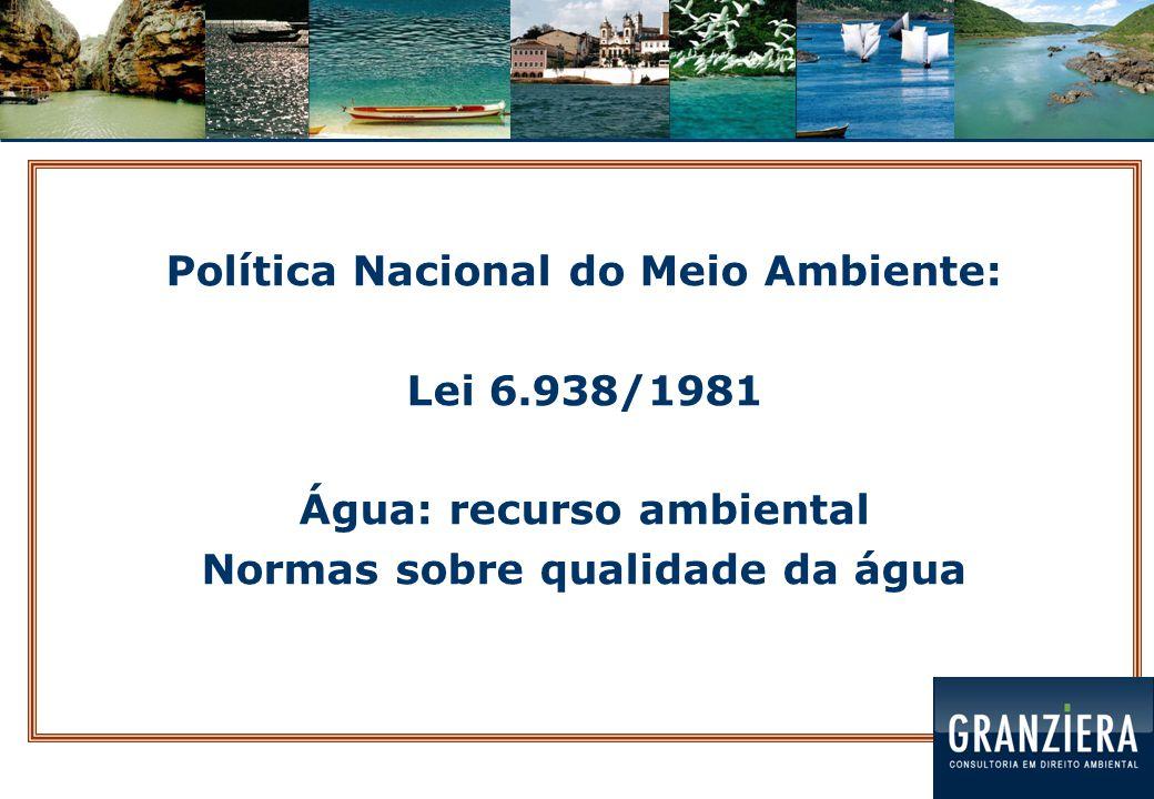 Código de Águas: Decreto 24.643/1934 Regulamentação predominante: energia elétrica Lei 9.433/1997  Política Nacional de Recursos Hídricos  Sistema Nacional de Gerenciamento de Recursos Hídricos Lei 12.726/1999 - PR  Política Estadual de Recursos Hídricos  Sistema Estadual de Gerenciamento de Recursos Hídricos