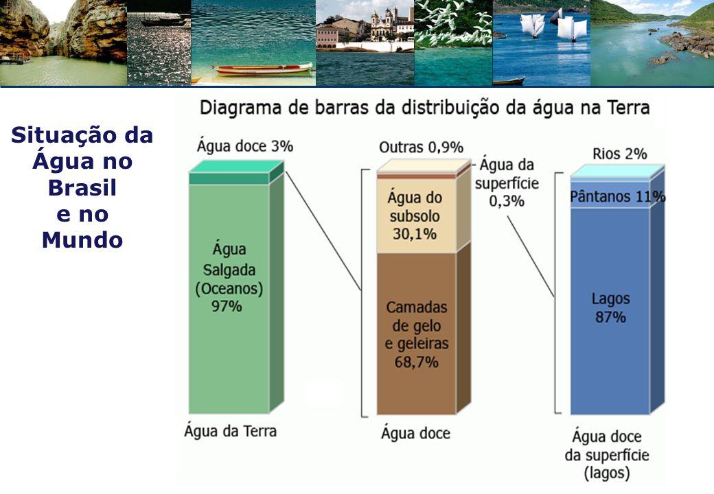 DADOS DO MUNDO:  900 milhões: não têm acesso à água  2,6 bilhões: não têm acesso ao saneamento básico  28/Jul/2010: ONU reconhece acesso à água potável e ao saneamento básico como direito humano Res.