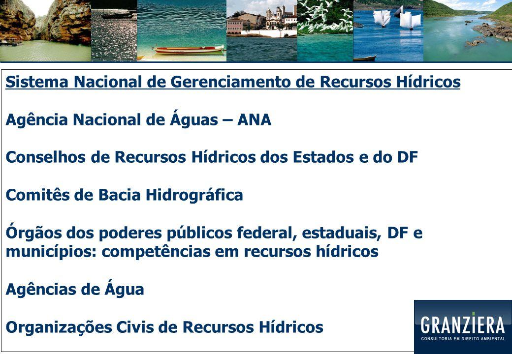No Estado do Paraná: Conselho Estadual de Recursos Hídricos (CERH/PR) Secretaria de Estado do Meio Ambiente e Recursos Hídricos (SEMA) Instituto das Águas do Paraná Comitês de Bacia Hidrográfica Gerências de Bacia Hidrográfica