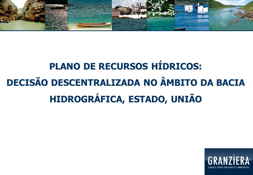 Plano de Recursos Hídricos (BH): DIRETRIZES GERAIS PARA ORIENTAR PLANOS DIRETORES EM CRESCIMENTO URBANO, LOCALIZAÇÃO INDUSTRIAL, PROTEÇÃO DE MANANCIAIS, EXPLORAÇÃO MINERAL, IRRIGAÇÃO, SANEAMENTO METAS PARA ÍNDICES DE RECUPERAÇÃO, PROTEÇÃO E CONSERVAÇÃO DE RECURSOS HÍDRICOS Lei 11.445/2007: Planos de Saneamento Básico: com base nos Planos de BH