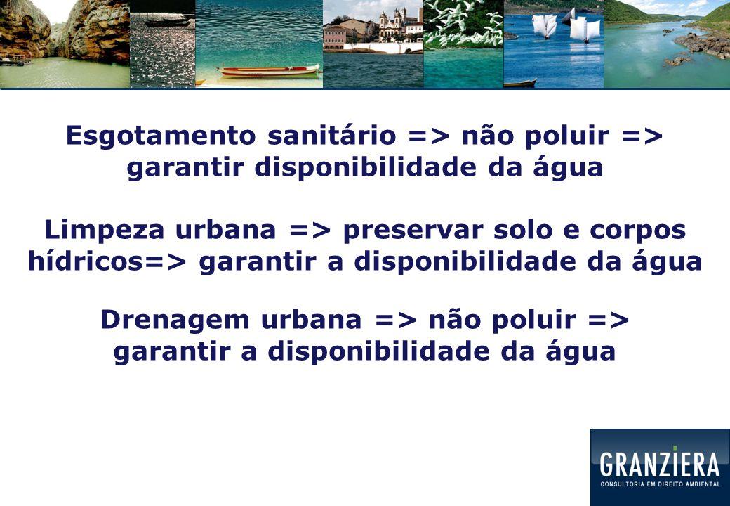 Finalidade do saneamento básico:  Garantir a disponibilidade de água para o abastecimento  Manutenção da salubridade do ambiente