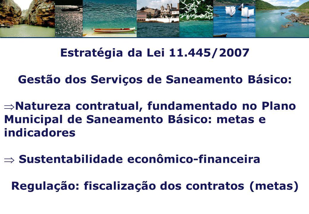 Atendimento urbano de abastecimento de água no Brasil Fonte: Conjuntura dos Recursos Hídricos no Brasil.