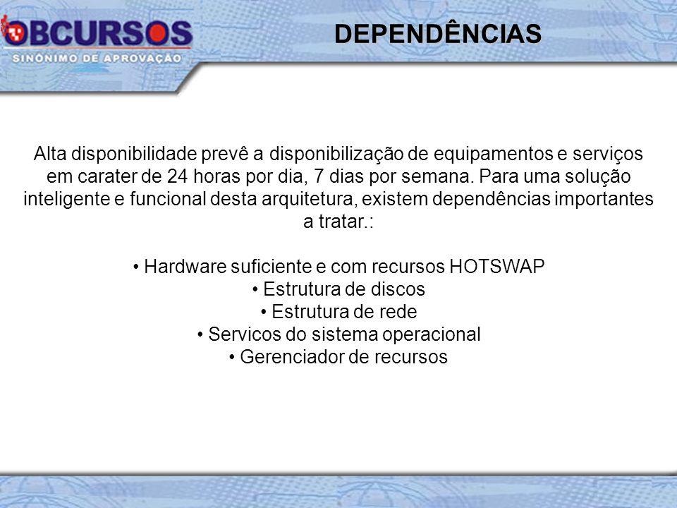 Recurso extremamente utilizado em equipamentos produtivos (servidores), hotswap prevê uma interação de hardware com o sistema operacional em funcionamento e o equipamento ligado.