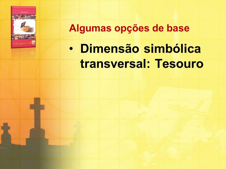 Algumas opções de base Dimensão simbólica transversal: Tesouro