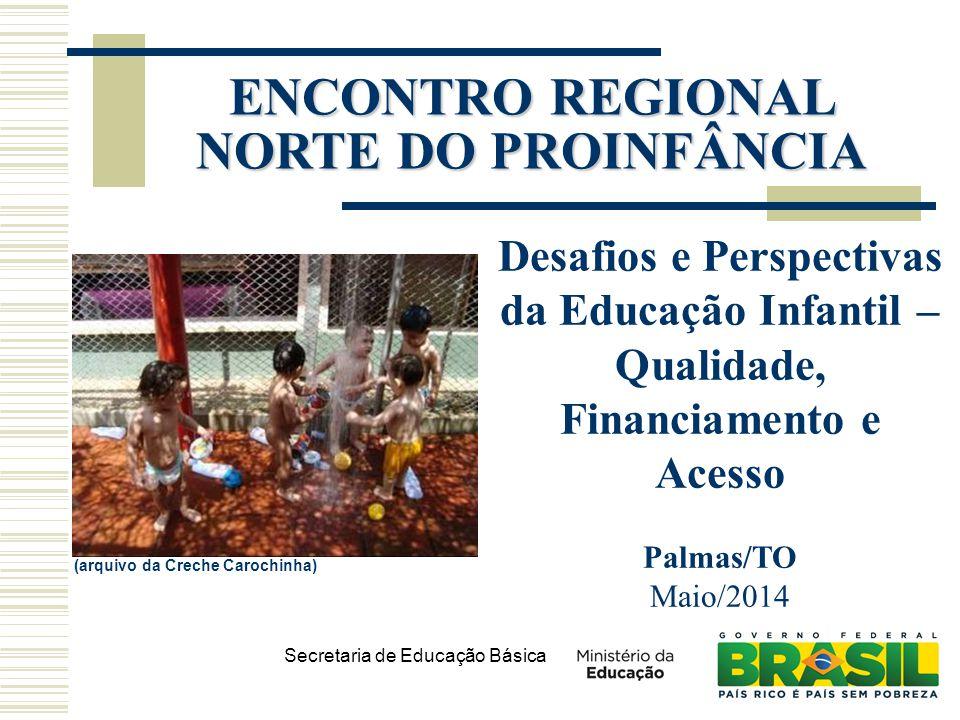 Secretaria de Educação Básica (arquivo da Creche Carochinha) Desafios e Perspectivas da Educação Infantil – Qualidade, Financiamento e Acesso Palmas/T