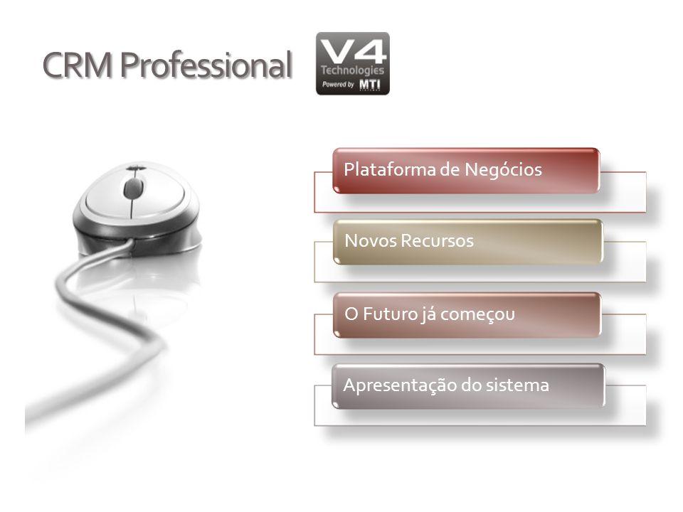 CRM Professional Plataforma de NegóciosNovos RecursosO Futuro já começouApresentação do sistema