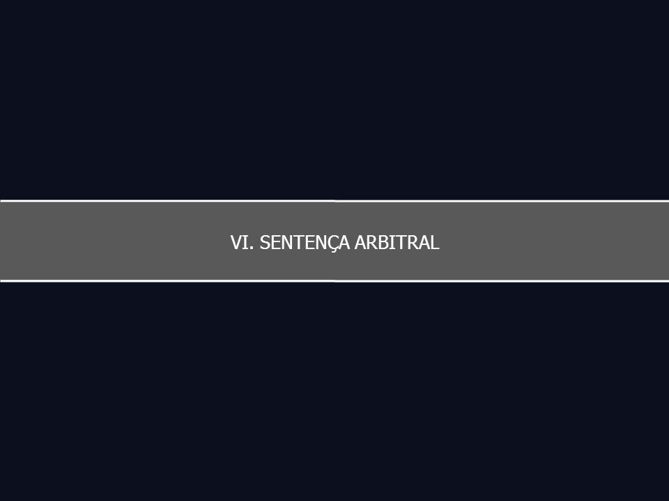 VI. SENTENÇA ARBITRAL