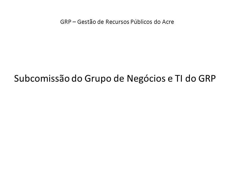 Subcomissão do Grupo de Negócios e TI do GRP