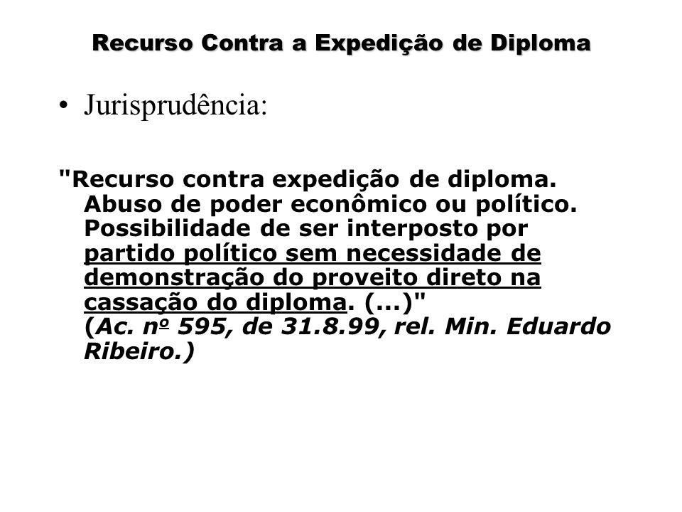 Recurso Contra a Expedição de Diploma Jurisprudência: