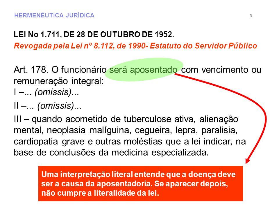LEI No 1.711, DE 28 DE OUTUBRO DE 1952.