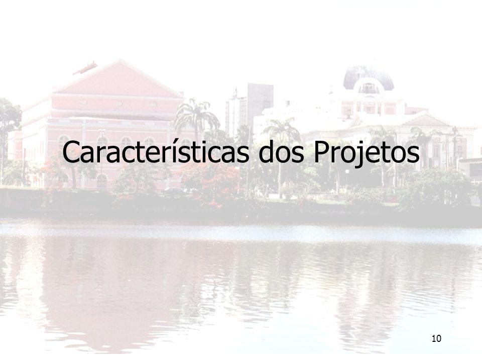 10 Características dos Projetos