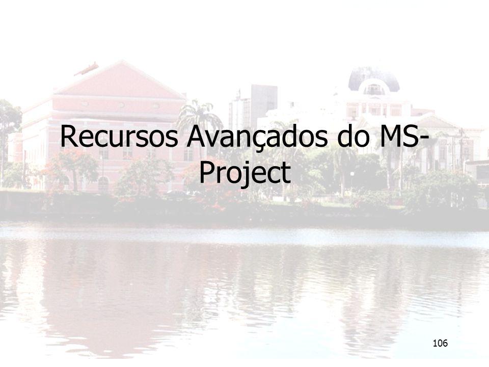 106 Recursos Avançados do MS- Project