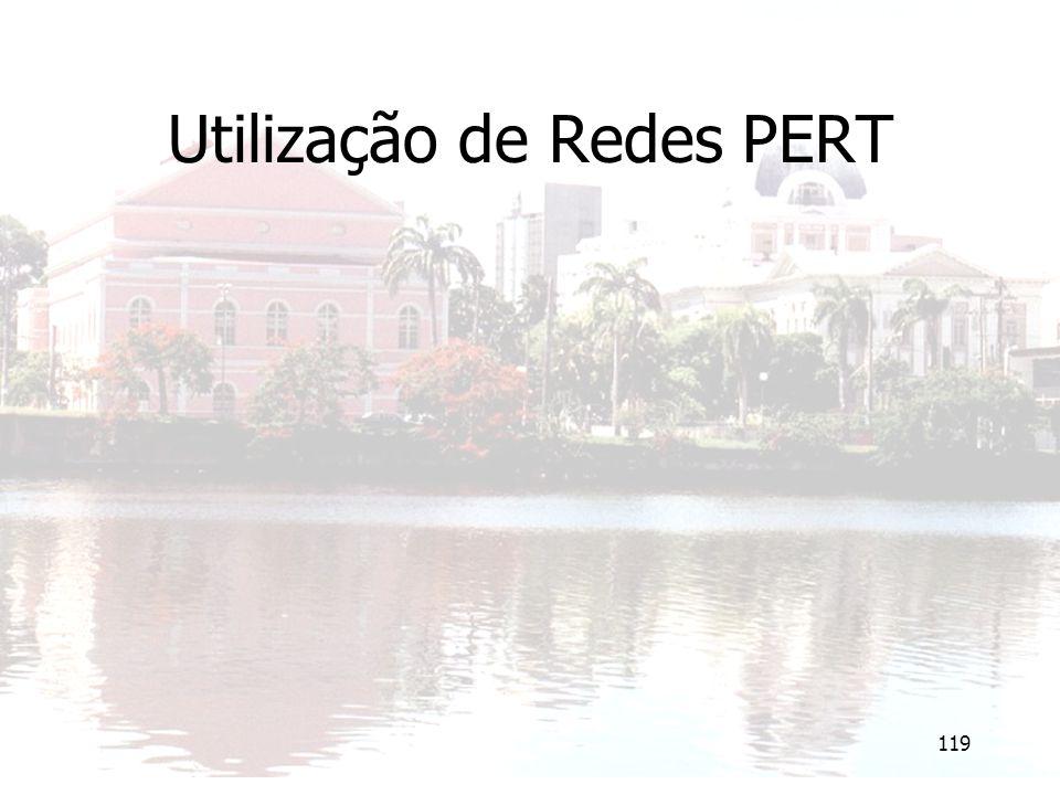 119 Utilização de Redes PERT