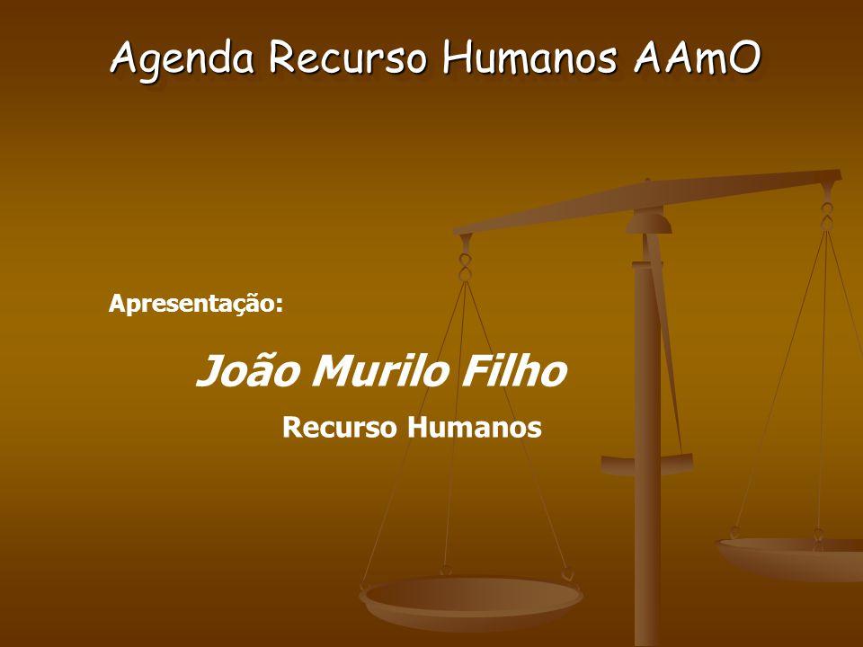 Apresentação: João Murilo Filho Recurso Humanos Agenda Recurso Humanos AAmO