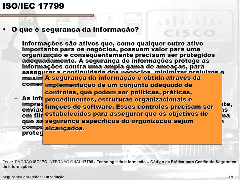 O que é segurança da informação O que é segurança da informação.