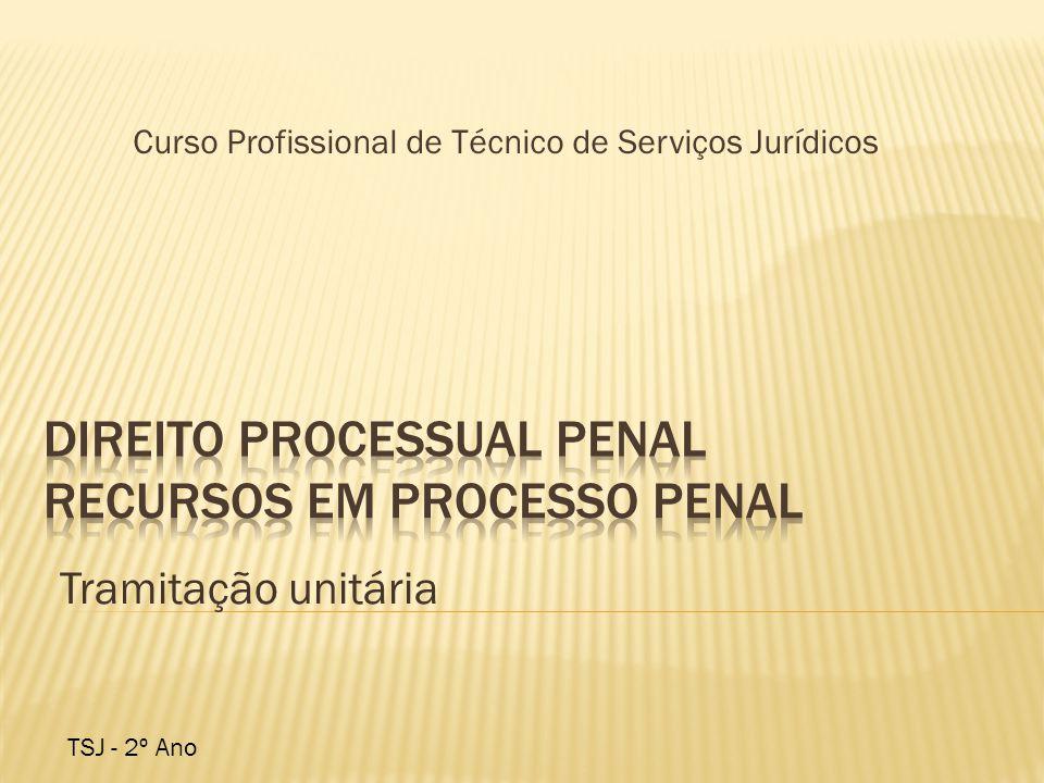 Tramitação unitária Curso Profissional de Técnico de Serviços Jurídicos TSJ - 2º Ano