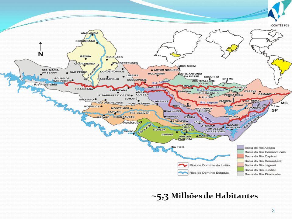 3 ~5,3 Milhões de Habitantes