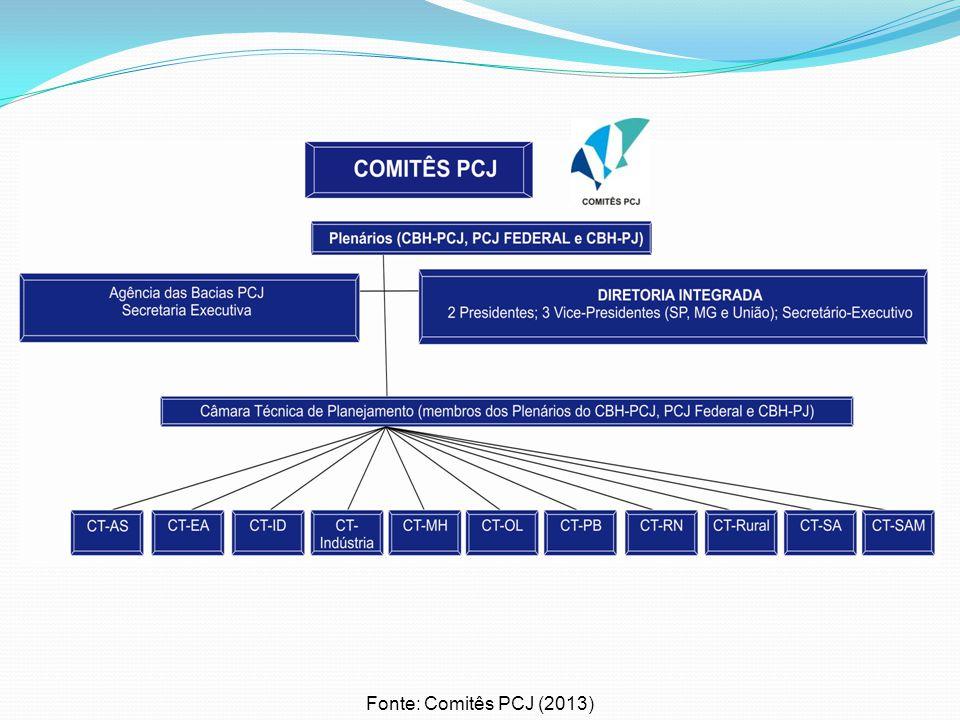 Fonte: Comitês PCJ (2013)