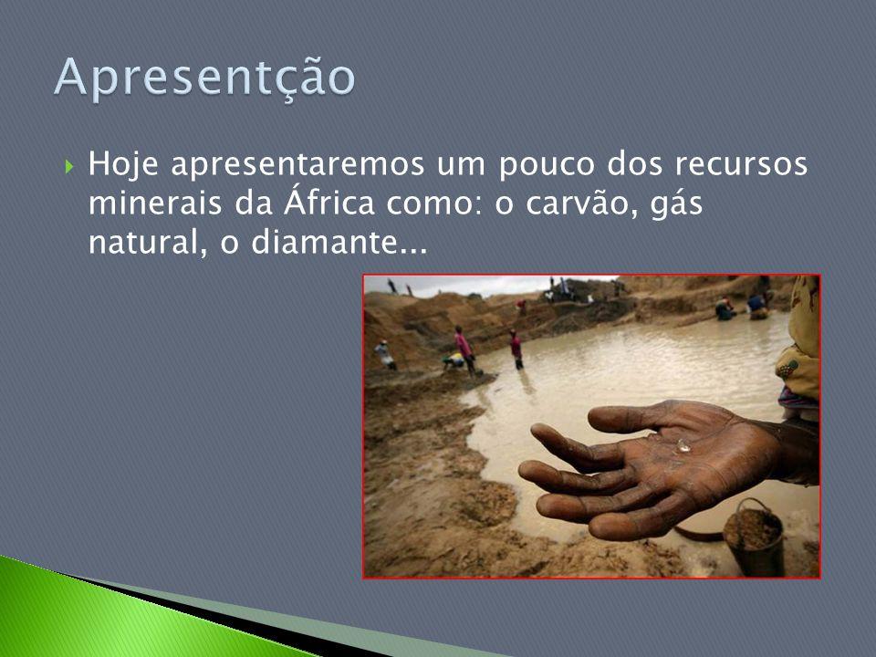  Hoje apresentaremos um pouco dos recursos minerais da África como: o carvão, gás natural, o diamante...