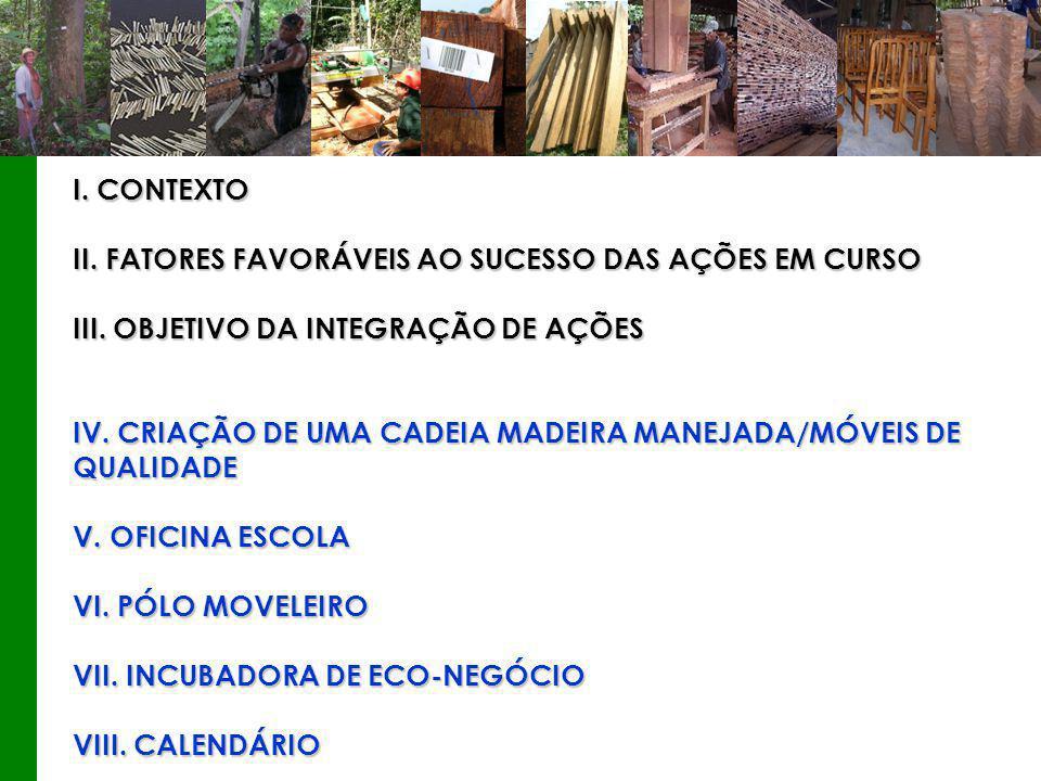 I. CONTEXTO II. FATORES FAVORÁVEIS AO SUCESSO DAS AÇÕES EM CURSO III.