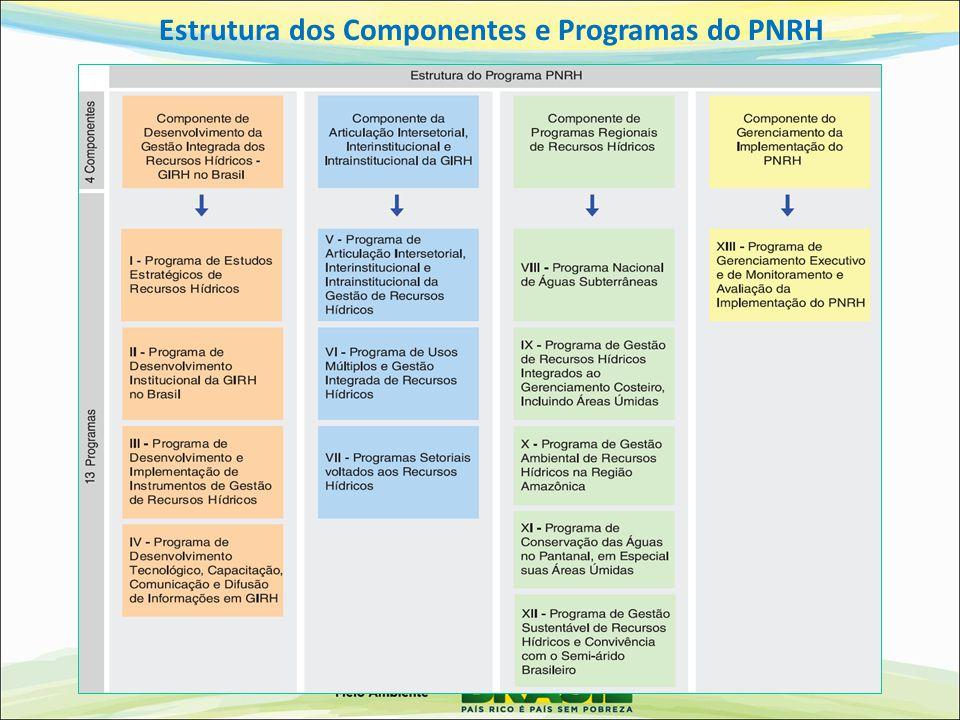 Estrutura dos Componentes e Programas do PNRH
