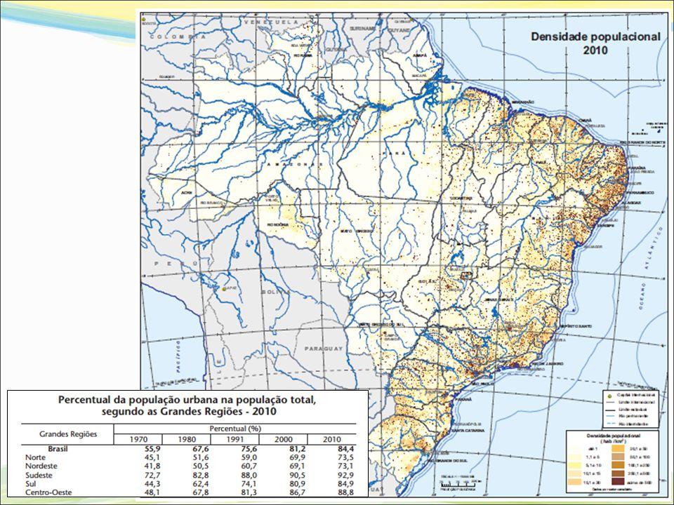 BRASIL Disponibilidade de Recursos Hídricos Fonte: ANA, 2013 (Relatório Conjuntura dos Recursos Hídricos no Brasil – 2013) Vazões em m³/s 180.000 m 3 /s, no país.