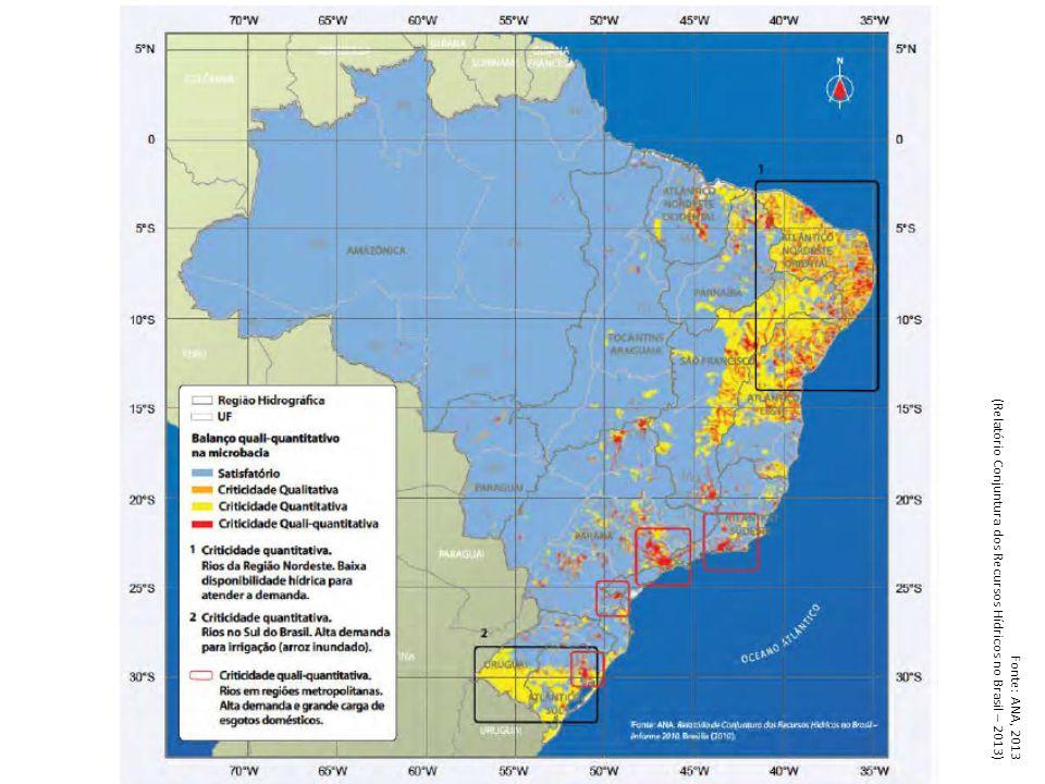 Planos de recursos hídricos Bacias estaduais Planos de bacias estaduais 100 bacias com plano elaborado Total: 431 bacias Fonte: SPR/ANA