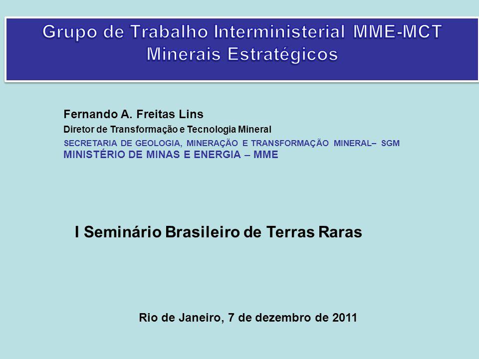 Fevereiro/2011 GTI MME-MCTI Dezembro/2010 Portaria Interministerial nº 614 de 30/6/2010.