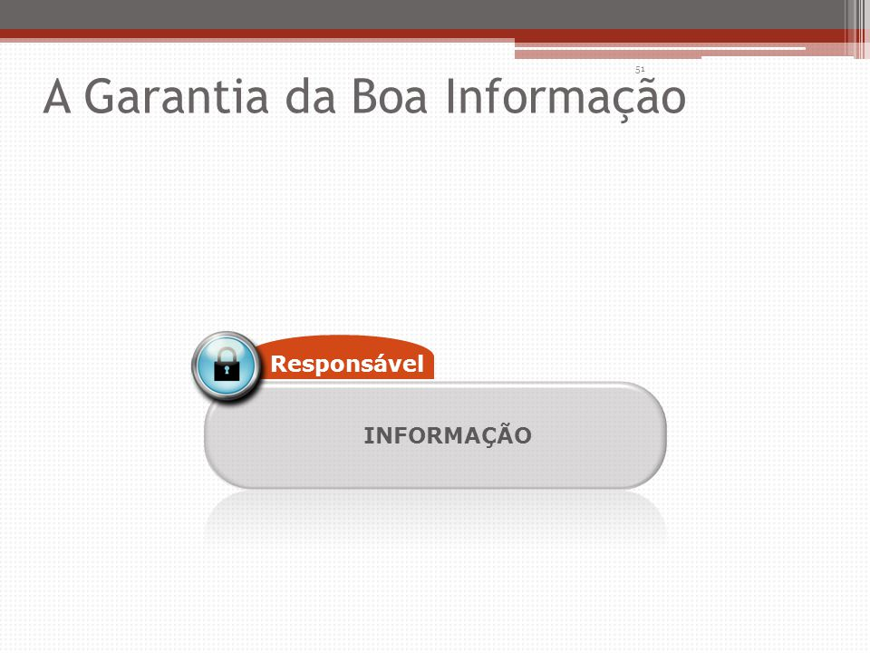 INFORMAÇÃO Responsável 51 A Garantia da Boa Informação